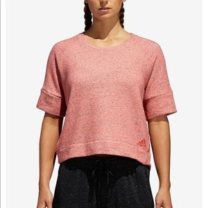 $15🆑 Adidas SS Crop Short Sleeve Sweater